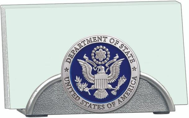 Pewter business card holder