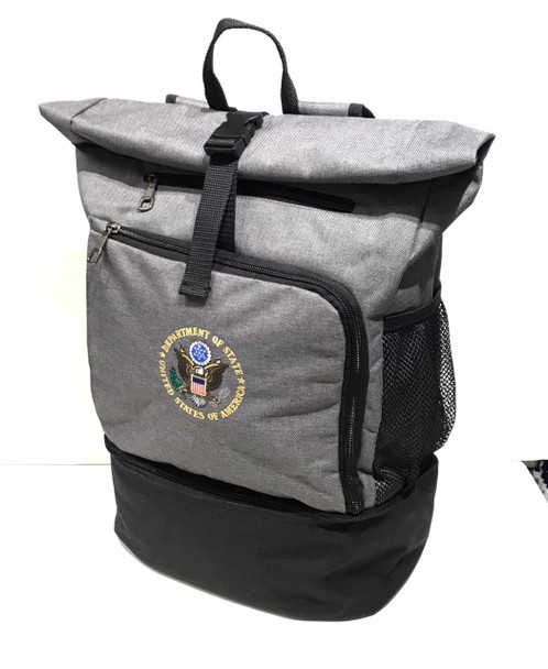 Unique Laptop Backpack Cooler - DOS Logo Embroidered
