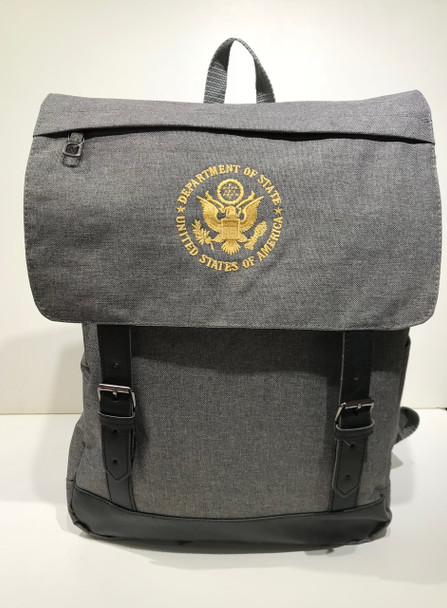 Stylish Computer Backpack - DOS Embroidered Logo