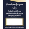 Application Tri-Fold Inserts - Navy, White & Gold