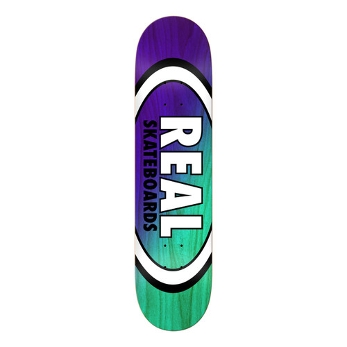 Team Angle Dipped Oval - Purple/Teal - 8.38