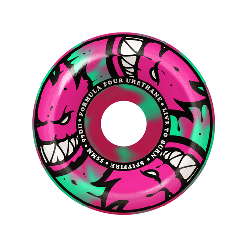 F4 Afterburner Conical Full 99D - Mint/Pink Swirl - 54