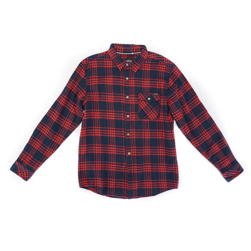 Bayside L/S Woven Shirt - Red