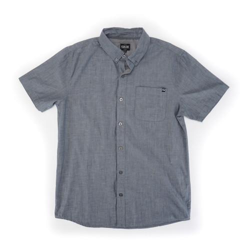 Coastal Woven Shirt - Charcoal
