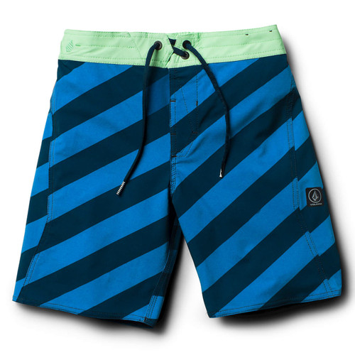 Boys Stripey Elastic Boardshort