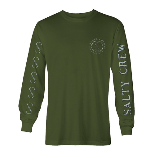Arched LS Tee - Military Green