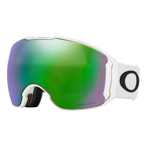 Airbrake XL - Polished White - Prizm Jade