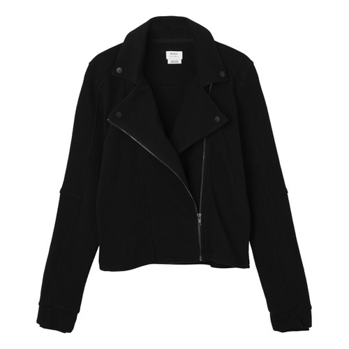Reckoner Ribbed Moto Jacket - Black
