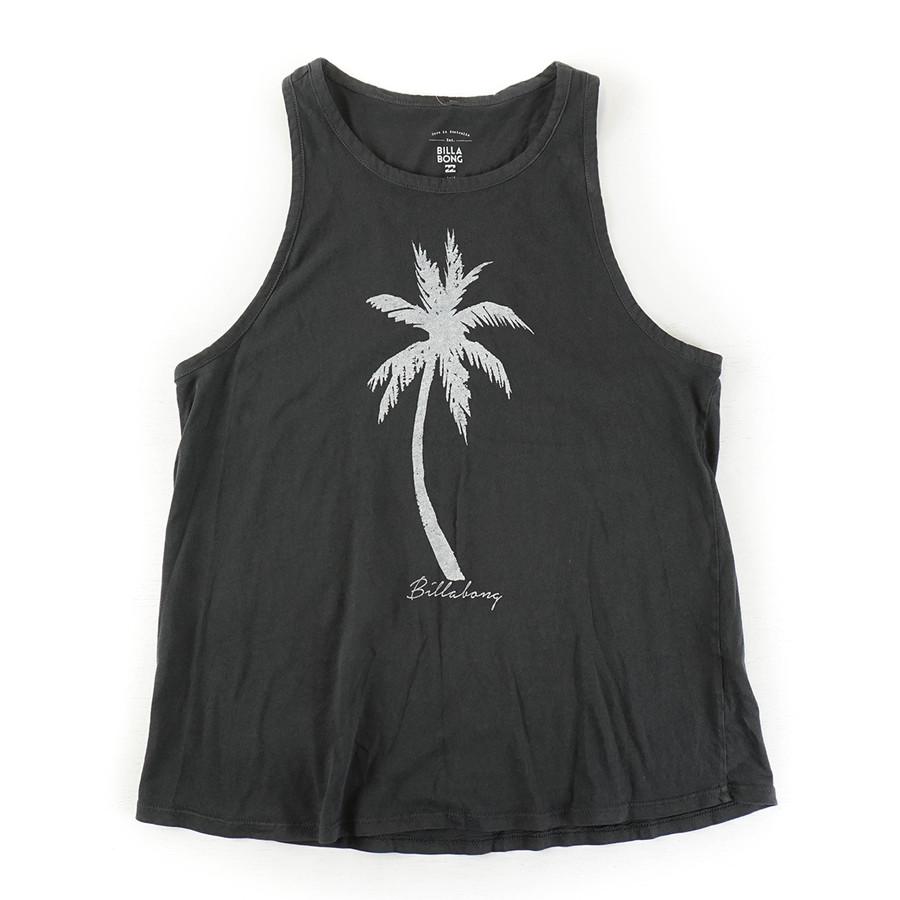 Palm Paradise Tank - Off Black