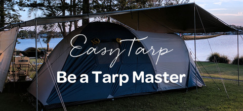 Tarpaulin camping shelter kits made easy...