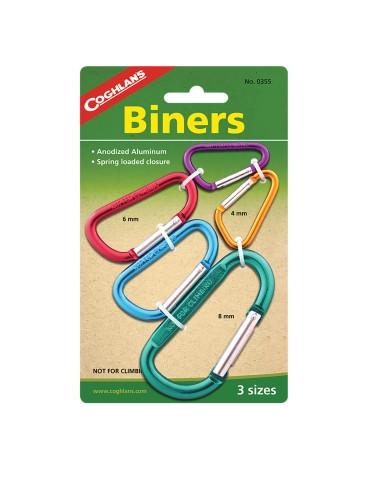 Coghlans - Multi Pack Biners Carabiners - 0355 - Outdoor Stockroom