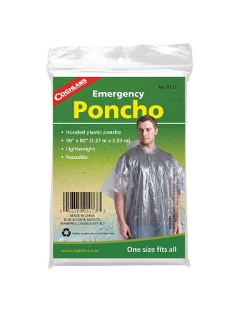 Coghlans - Kids Poncho Clear - 0242 - Outdoor Stockroom