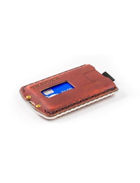 Trayvax Ascent Canyon Red Minimalist Wallet