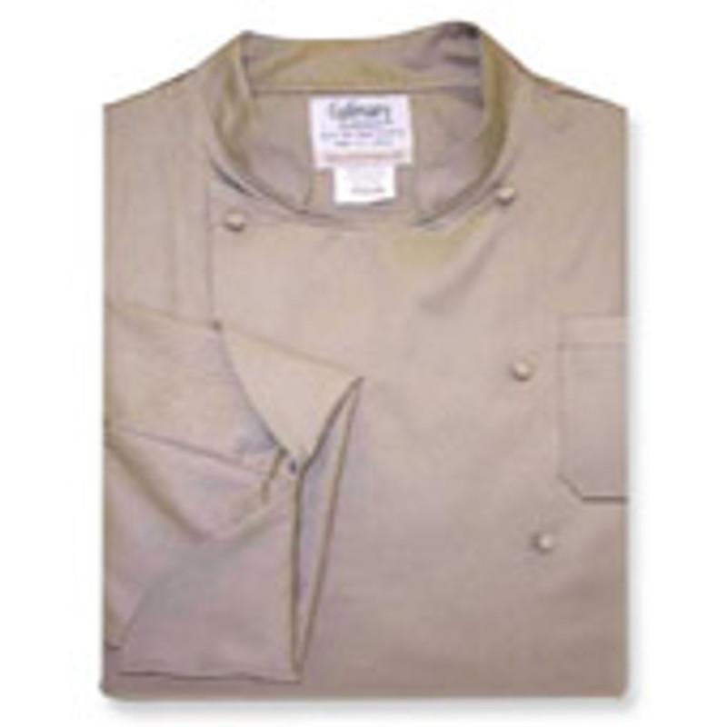 Contempo Coat in Khaki Twill with 2 Pockets