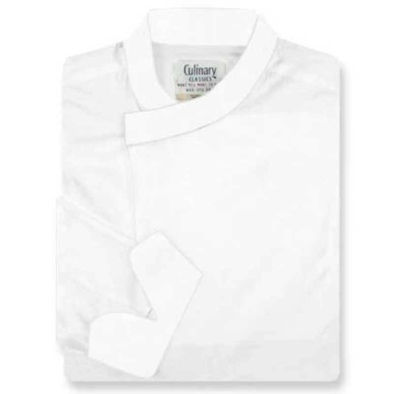 Tunic Chef Coat in White Poplin with Left Sleeve Pocket