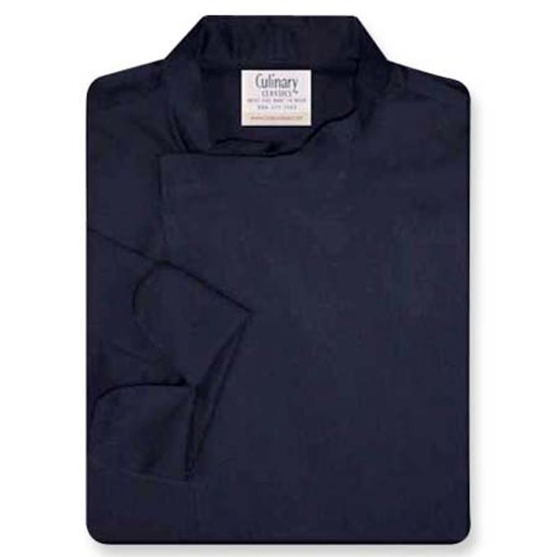 Tunic Chef Coat in Navy Twill with Left Sleeve Pocket
