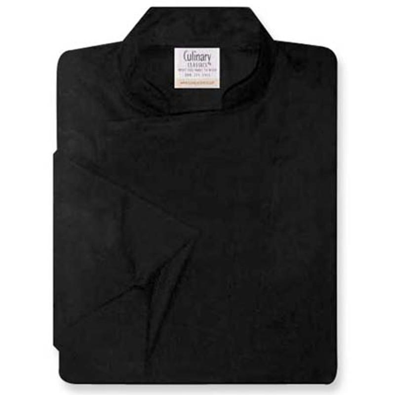 Epicurean Chef Coat in Black Egyptian Cotton