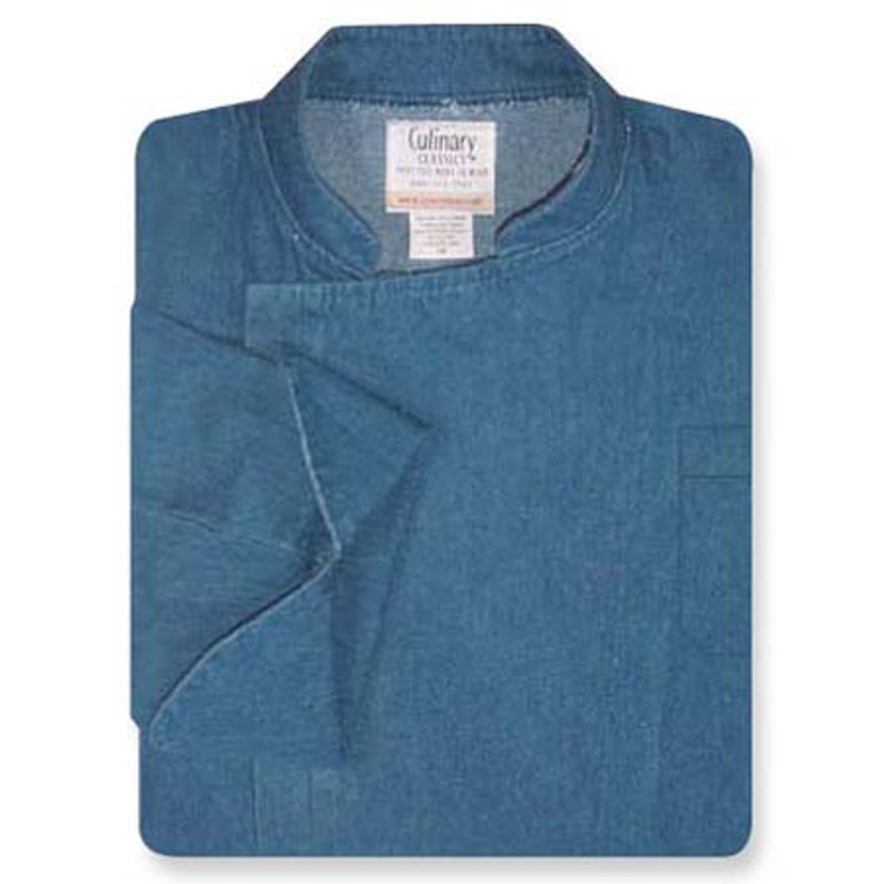 Epicurean Chef Coat in Blue Denim with Pockets