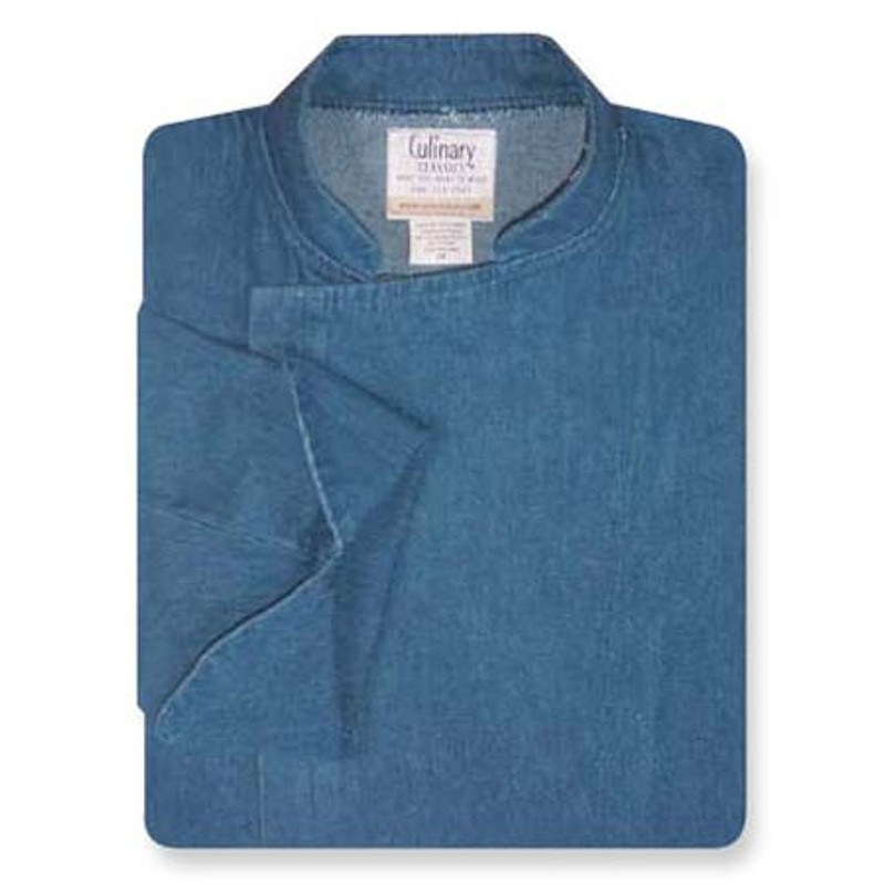 Epicurean Chef Coat in Blue Denim