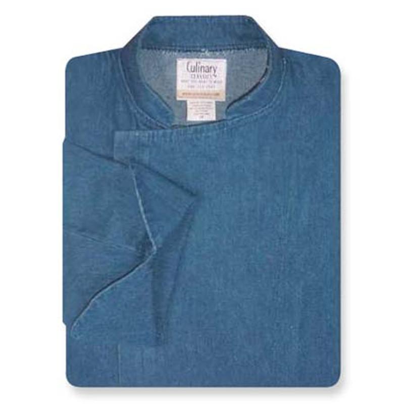Epicurean Chef Coat in Blue Denim