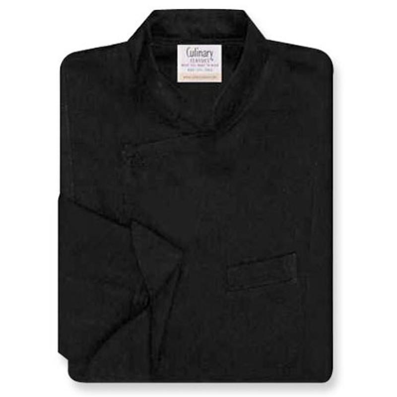 Milan Chef Coat in Black Egyptian Cotton