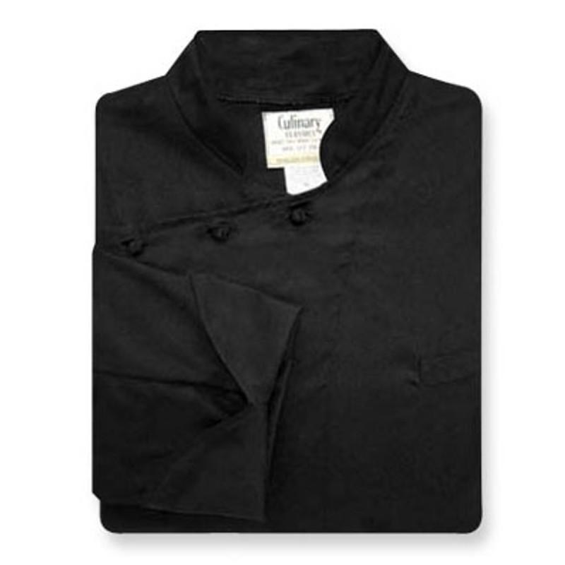 Bordeaux Chef Coat in Black Fineline Twill