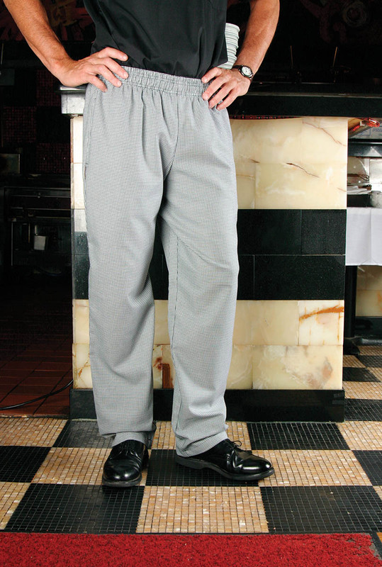 Classic Chef Pants in 100% Cotton Micro Houndstooth