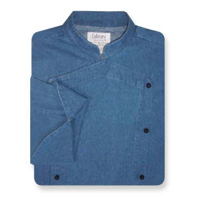 Venetian Chef Coat in Blue Denim