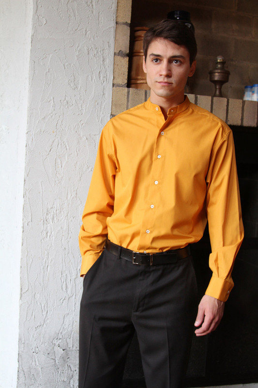Collarless Shirt - 30 colors!