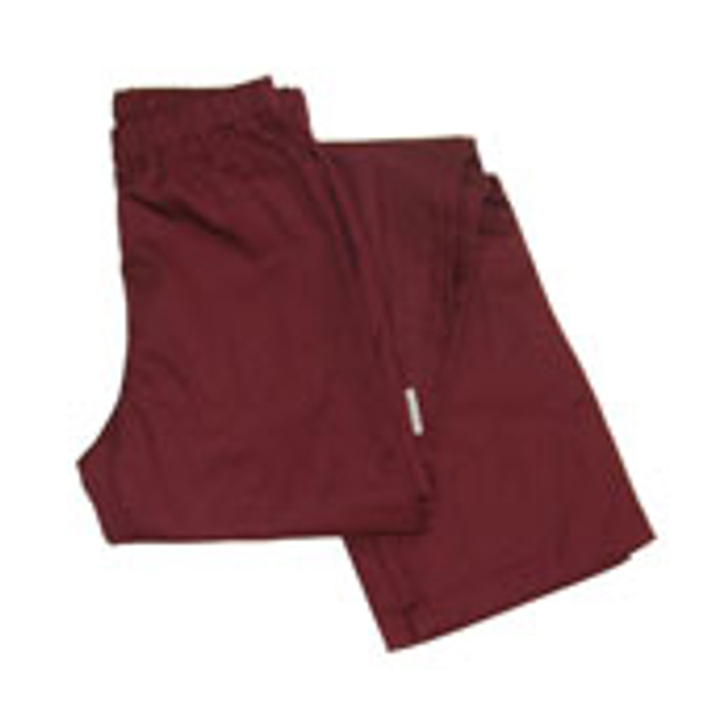Women's Straight Leg Chef Pants in Burgundy