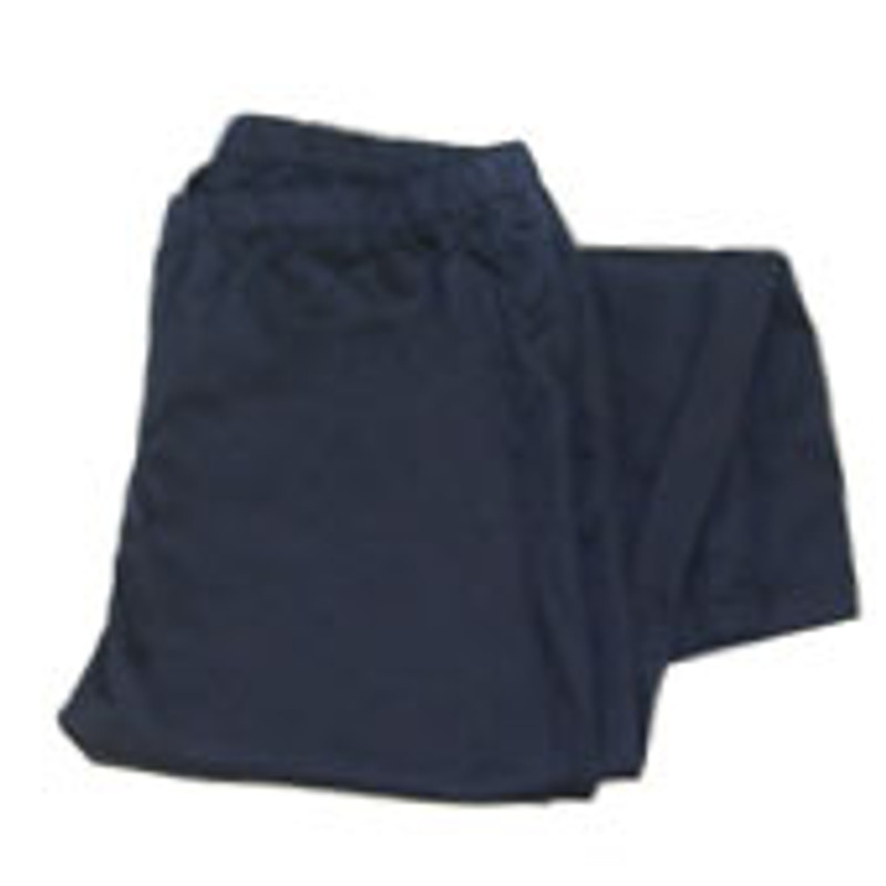 Women's Straight Leg Chef Pants in Navy Twill