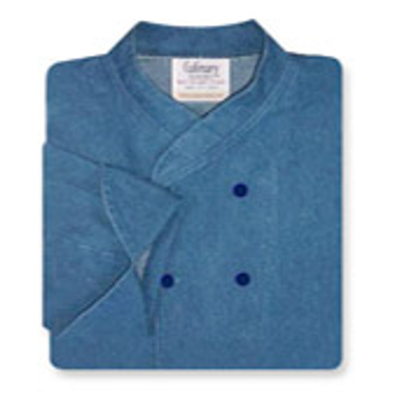 Imperial Chef Coat in Blue Denim with Navy Buttons