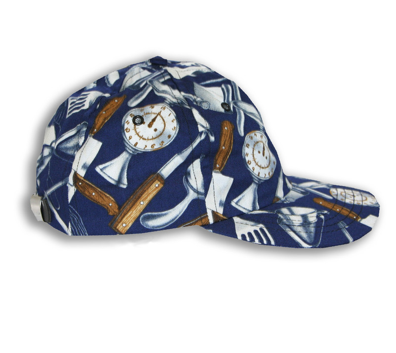 Premium Baseball Cap in Navy Cooking Utensils - limited edition