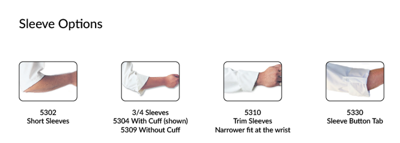 Sleeve options