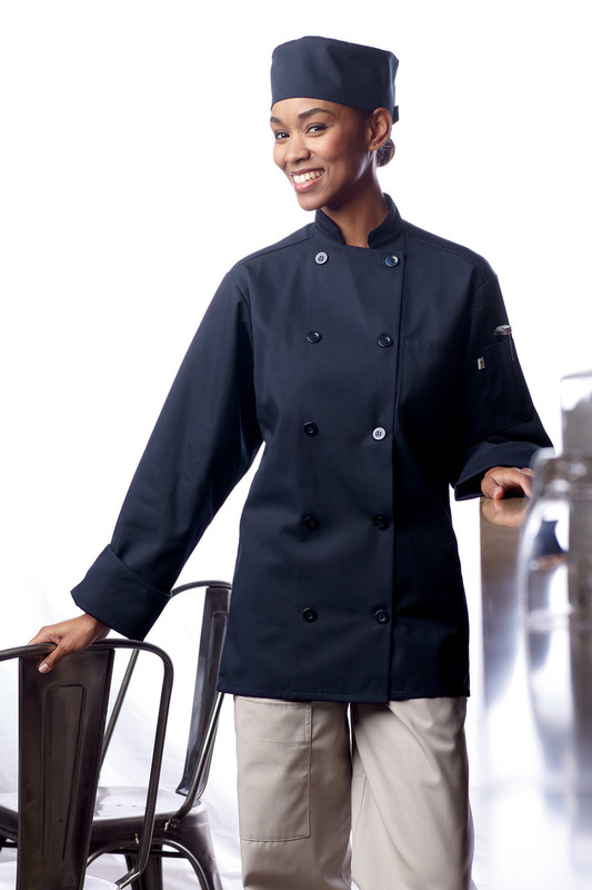 Orleans Chef Coat in Navy