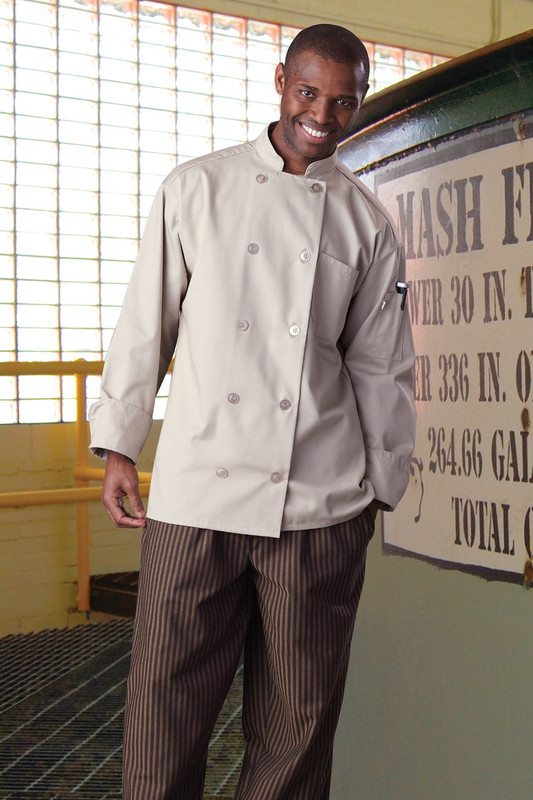Orleans Chef Coat in Stone