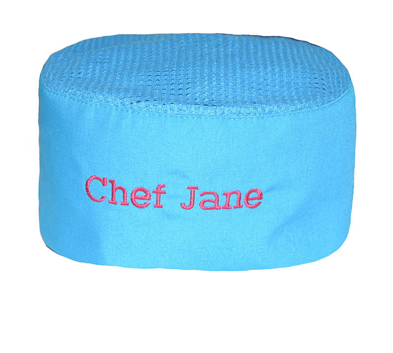 "4"" Grand Baker's Cap with Velcro and Mesh Top in Poplin - More Colors!"