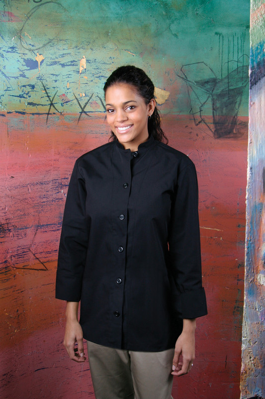 Women's Mandarin Chef Coat - Build Your Own