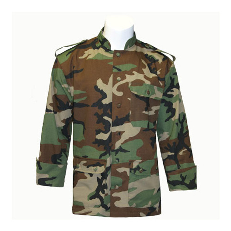 Mandarin Chef Coat in Camouflage with Pockets