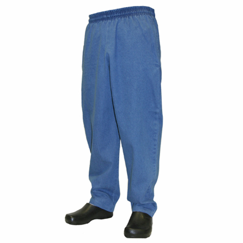 Baggy Chef Pants in 100% Blue Cotton Denim