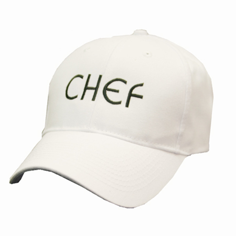 Baseball Cap in White - CHEF embroidery