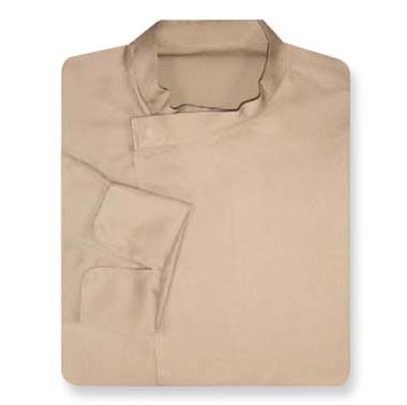 Tunic Chef Coat in Khaki with Left Sleeve Pocket