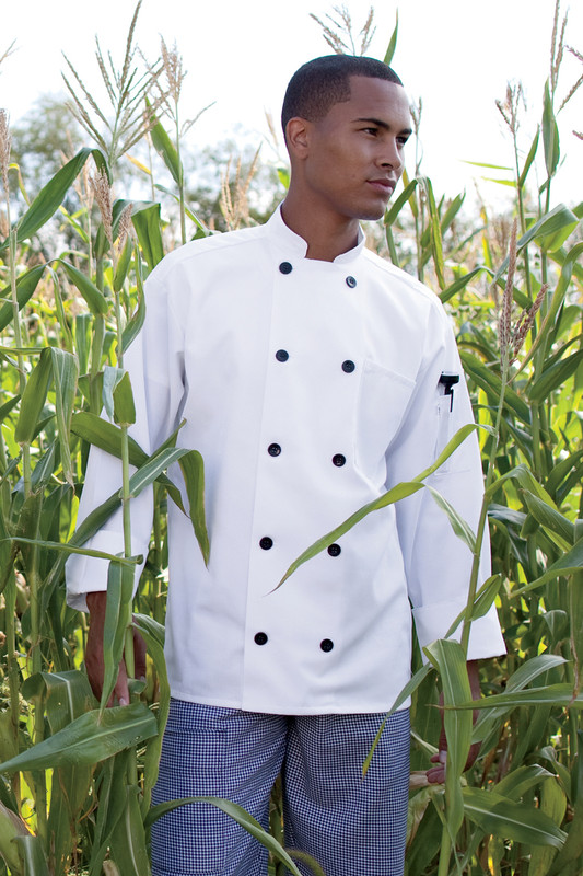Moroccan Chef Coat in White