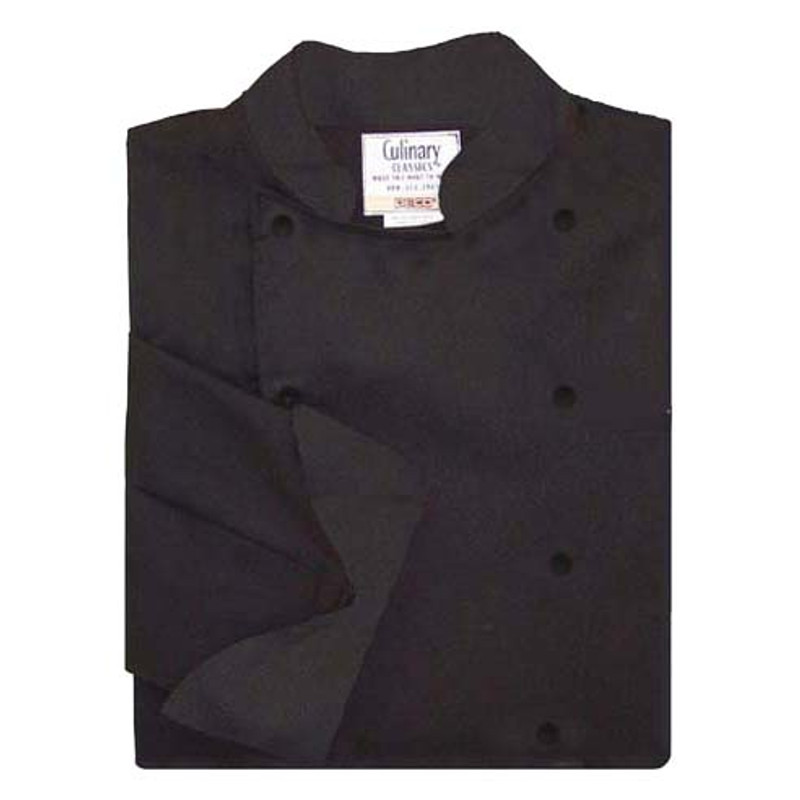 Women's Traditional Coat in Black Egyptian Cotton