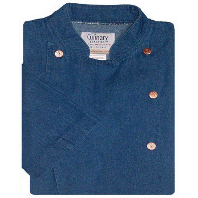 Women's Traditional Coat in Blue Denim Cotton