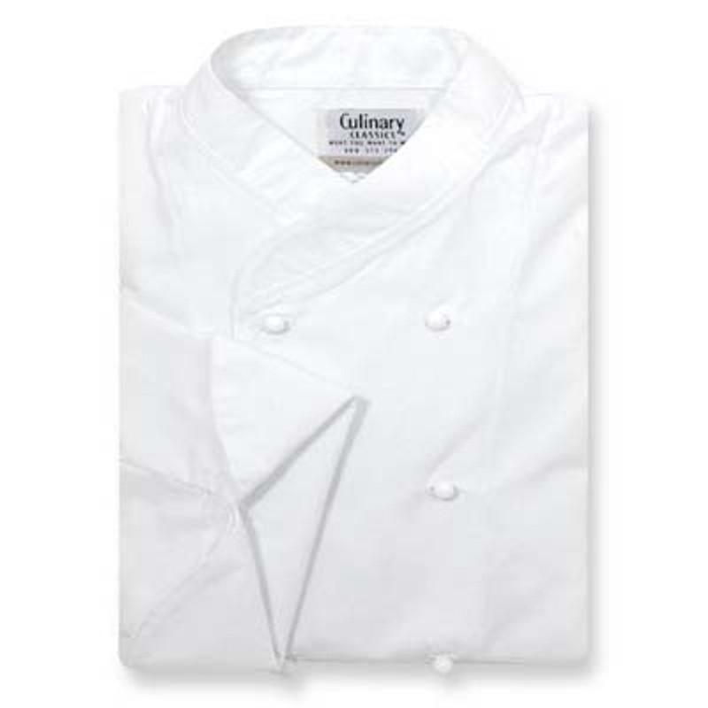 Women's Imperial Chef Coat in White Poplin