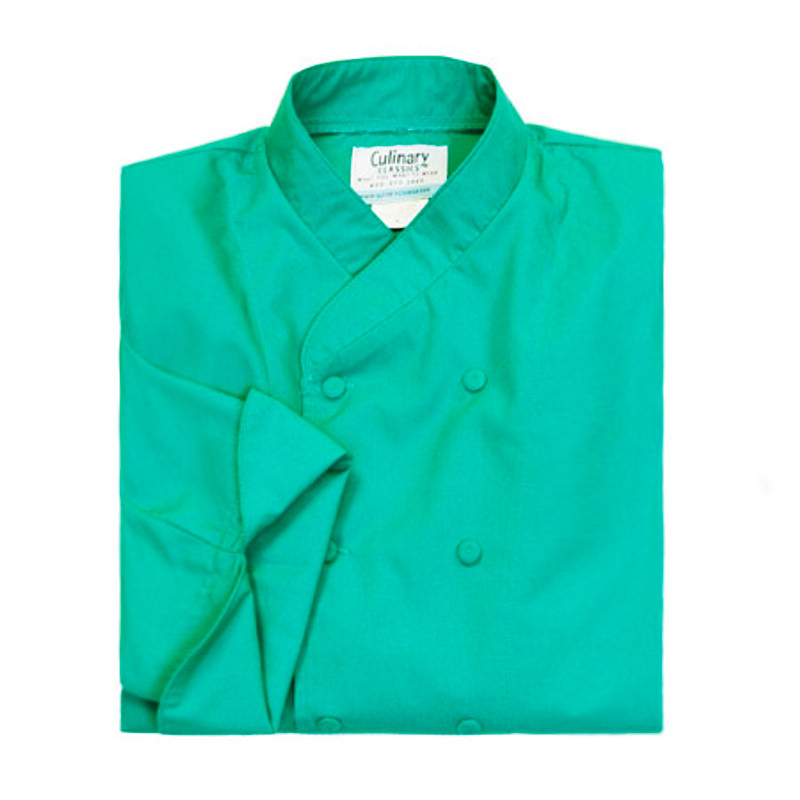 Imperial Chef Coat in Jade Poplin