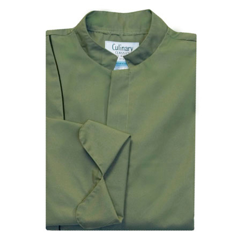 Vanguard Chef Coat in Olive Green with Black Cording