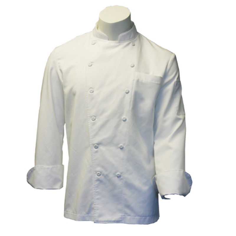 Traditional Easy Care Chef Coat in White Riviera