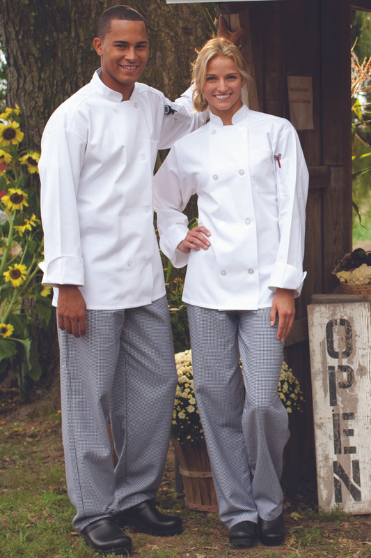 Eight Button Chef Coat in White